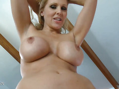 Blue Eyed Blonde MILF Sucks Cock Skillfully in POV