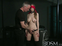 BDSM XXX Young big breasted sub gets hard anal from master
