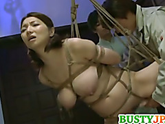Mio enjoys hardcore bondage