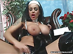 Nun Victoria Brown Fucks Her Pussy & Ass With A Cross