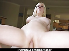 POVLife - Kinky Blonde Cherry Torn Fucked on Camera