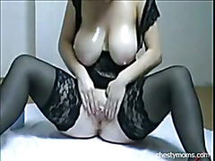 Busty Mom Anal and Pussy Masturbation