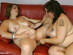Hot Slutty  BBW Lesbians Lick Bellys, Boobs and Booty