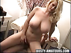 Busty Heather loves riding on reverse cowgirl