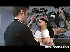 Blindfolded Spanked And Rough Fucked