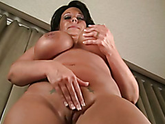 Busty Milf Krissy Rose Plays with Her Pussy and Big Tits
