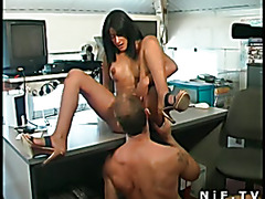 French tanned girl gets deep anal fucked