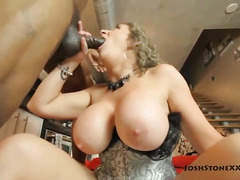 Sara Jay and Samantha 38G Double Team Black Dicks