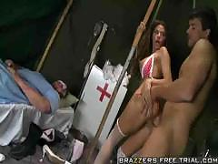 Nurse Madelyn Marie Fucks A Soldier