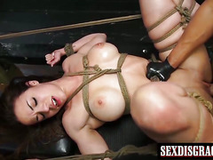 Cute girl Kylie loves bondage sex action