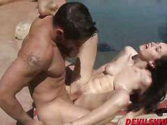 Hot stepmom Savannah Fyre pounded hard by her stepsons cock