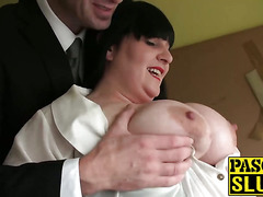 Big ass MILF gets penetrated roughly