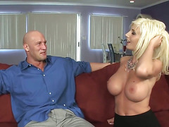 Sweden milf in fishnet with big tits fucks guy (TOP MILF)