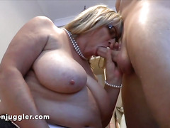 An old secretary fucks her boss