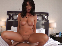 Latina MILF with Big Natural Tits gets Anal