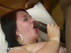 Fat slippery white pussy full of BBC