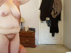 feel her soft belly,hairy pussy, tits,ass on hidden