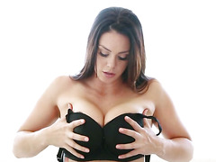 Busty Alison Tyler puts her tights in her pussy
