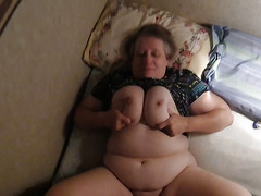 Mature wife fucking and playing with tits