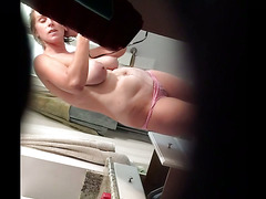 Spying my naked wife