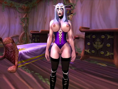 WowGirlX - Sexy Night Elf Strip-tease