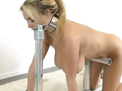 naughty slave big titty babe pumped by machine 2-3