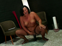 Solo Sunday #11 - BBW with a huge black dildo
