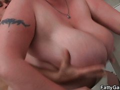 Busty bbw slut takes it from behind