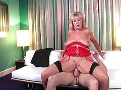 Sexy and slutty MILF bitch teasing with her old big ass