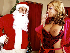 Persuading Santa with Big juicy tits