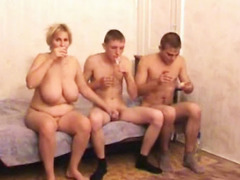 Sex addicted milf fucking young cocks