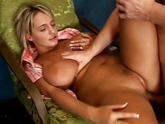 Busty blonde schoolgirl shagging with her teacher