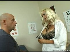 Doctor Oneil fucks her patient big hard dick