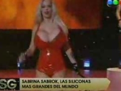 Sabrina Sabrok celebrity tvhost and punk singer with the biggest breast in the worldLive show