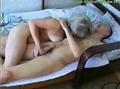 Hungry middle-aged witch fucks very young, but stiff and hard dick