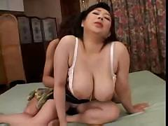 Rich hair over fat Japanese hooker's cunt is her only advantage