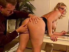 Dirty slut has never seen such a huge dick in her entire career