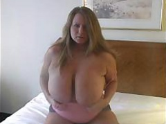 Stupid Blonde Playing With Her Big Boobs