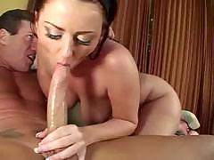 Charming Sophie plays with a nice-sized piece of hard meat