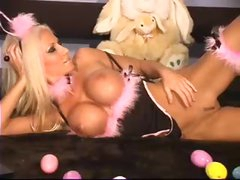 Amazing blonde is your sexy Easter bunny