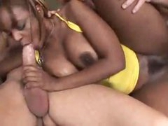Fucking the slutty black chick hard