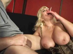 Mature cock pleaser gets him hard and happy
