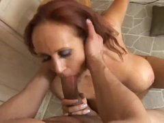 Sultry redheaded milf trying out anal sex