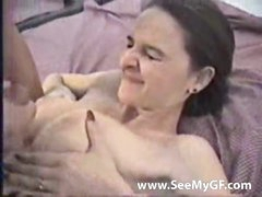 Pretty amateur fucked before he cums