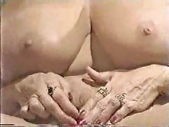 Mature blonde with her enormous clit