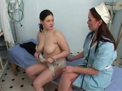 Nurse and patient fist each other