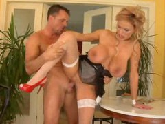 French maid with big titties fucked hard
