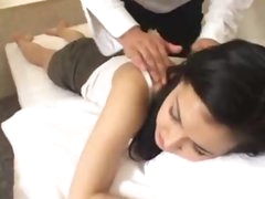 Two Asian scenes with big tits girl