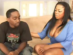 Shaved fat black chick fucked in her hot hole