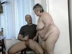 Fat girl on the table fucked hard